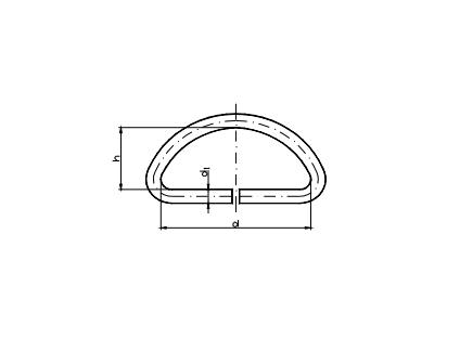 półkółka z drutu D-ring